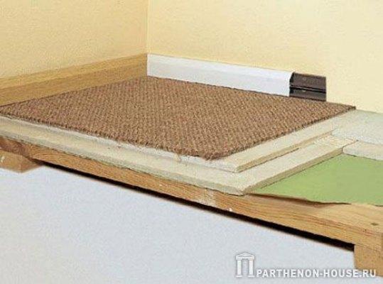 Как сделать теплый деревянный пол своими руками